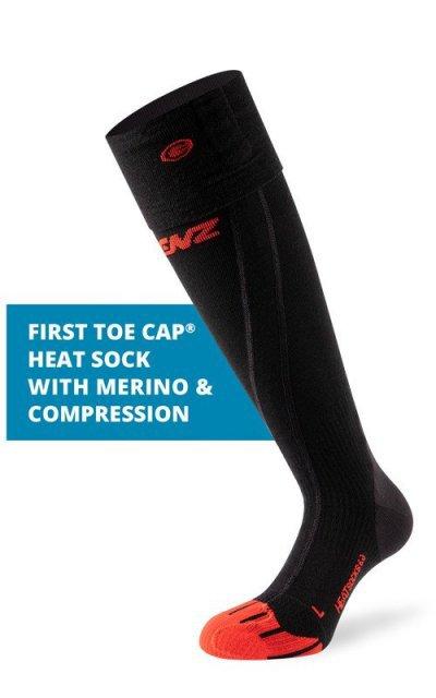 Vyhrievané ponožky Lenz Heat Socks 6.0 Toe Cap Merino Compression