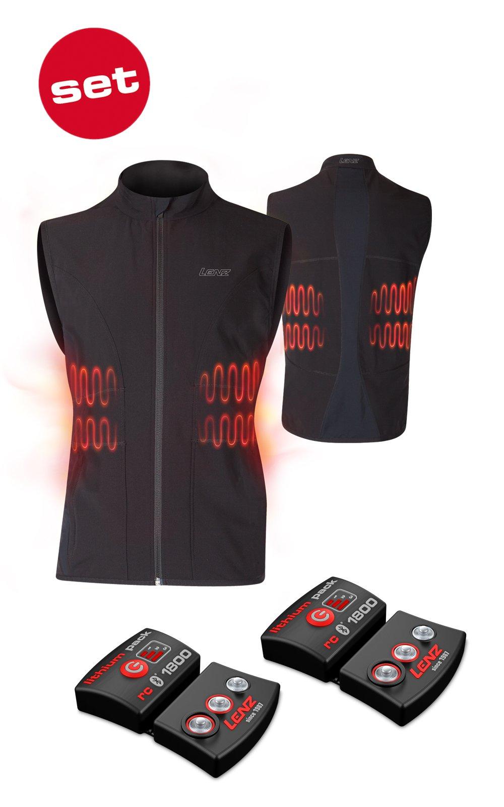 SET - Vyhrievaná vesta LENZ Heat Vest 1.0 Men + batérie lithium pack rcB 1800