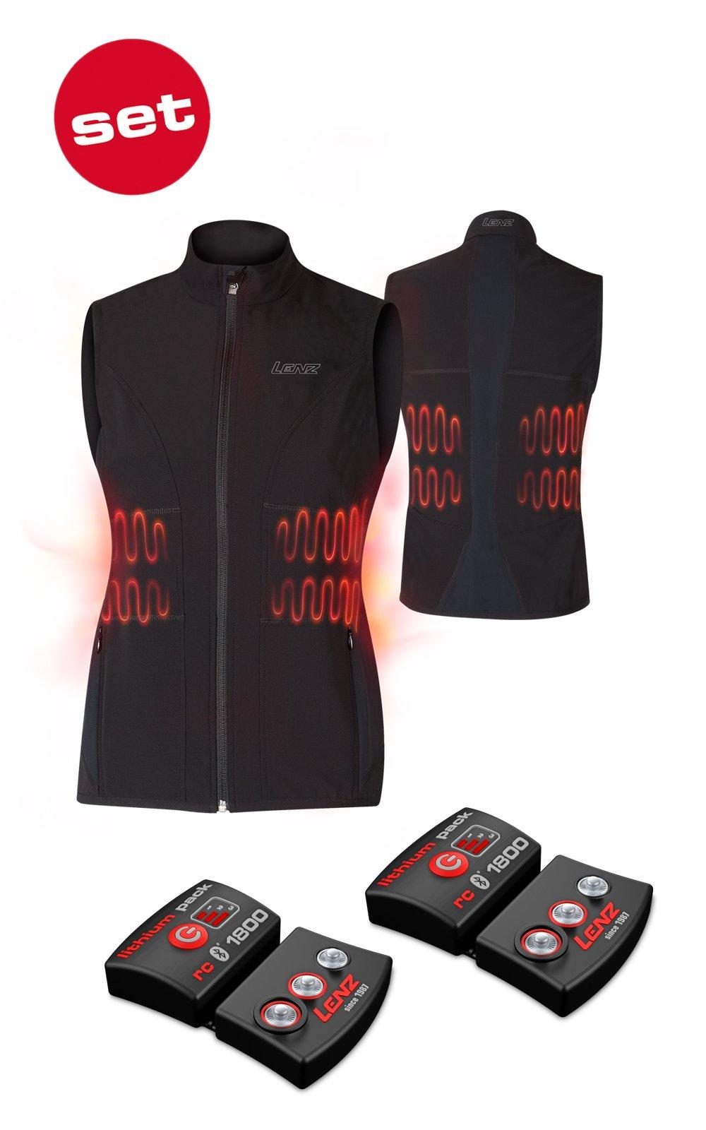SET - Vyhrievaná vesta LENZ Heat Vest 1.0 Women + batérie lithium pack rcB 1800